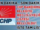 CHP BANDIRMA BELEDİYE MECLİS ÜYESİ ADAYLARI