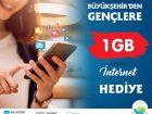 BÜYÜKŞEHİR'DEN 1 GB İNTERNET BEDAVA