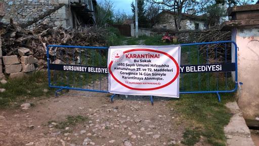 DURSUNBEY'DE KARANTİNA!