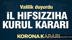 İL HIFZISIHHA KURULU KARARLARI
