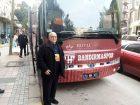 BANDIRMASPOR OTOBÜSÜNÜ TARAFTARLAR MEŞALELER İLE KARŞILADI