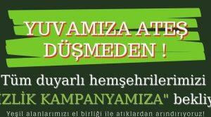 ATATÜRK PARKI'NDA TEMİZLİK KAMPANYASI YAPILACAK